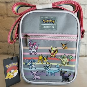 Loungefly Eevee Eeveelutions Rainbow Crossbody Bag